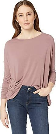 Majestic Filatures Womens French Terry Long Sleeve Striped Drop-Shoulder Boat Neck