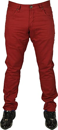 Enzo Jeans BNWT NEW MENS ENZO SKINNY SLIM FIT CHINOS STYLE 4 COLOURS 28 TO 44 SALE PRICE £14.99 (32W x 34L, Red)