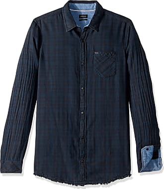 Buffalo David Bitton Sabokob Micro-Striped Long-Sleeve Micro-Stripe Poplin Shirt XL