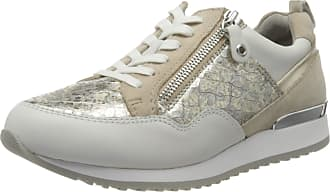 Caprice Womens Ginga Low-Top Sneakers, Gold (Lt Gold/White 921), 7.5 UK (41 EU)