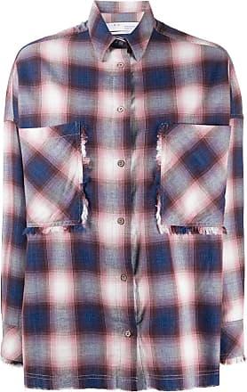 Iro Camisa oversized xadrez - Rosa