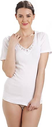 Camille 100% Cotton Ultra Comfort Short Sleeve Vest 18/20 White