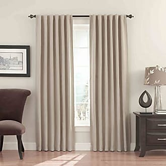 Eclipse Blackout Curtains for Bedroom - Fresno 52 x 84 Insulated Darkening Single Panel Rod Pocket Window Treatment Living Room, Wheat