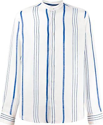 Peninsula Camisa La Greca listrada - Branco