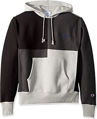 Champion Life Mens Reverse Weave Color Block Hood, Oxford Grey/Granite Heather/Black, XXX-Large