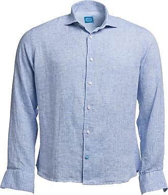 Panareha Camicia di lino FIJI blu