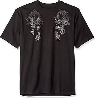 GUESS Mens Short Sleeve Dragon Blossom Print Shirt