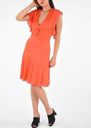Roberto Cavalli Pleated Dress with V-neck size 46