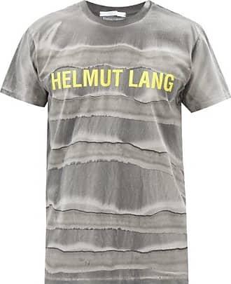 Helmut Lang Mega Marble-dyed Cotton-jersey T-shirt - Mens - Black Grey