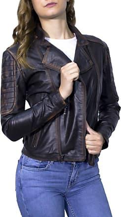 Leather Trend Italy Chiodo Roma - Giacca Donna in Vera Pelle colore Nero Asportato