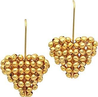 Tinna Jewelry Brinco Coração Bolinha Pequeno (Dourado)
