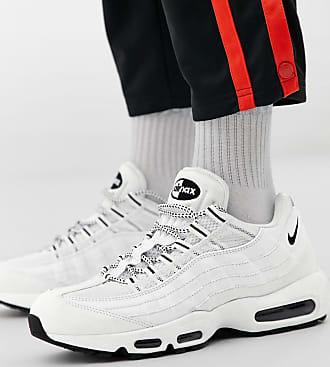 sale retailer 79871 a7db9 Nike Air Max 95 - Vita sneakers i läder - Svart