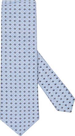 Altea Übergröße : Altea, Seidenkrawatte, geometrisches Muster in Hellblau für Herren