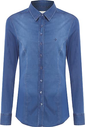 Dudalina Camisa Jeans Strech - Azul