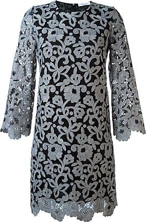 Blumarine Vestido com renda floral - Cinza