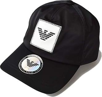 Emporio Armani Mens Eagle Logo Patch Baseball Cap O/S Black