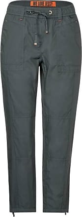 Cecil Hose mit Paper Touch - slate green