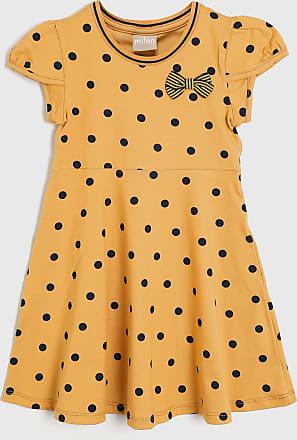 Milon Vestido Milon Infantil Poá Amarelo