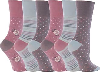 SockShop 6 Pairs Plain Ladies Gentle Grip Honeycomb Top Socks, 4-8 uk, 37-42 Eur, Gg01
