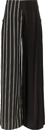 Esteban Cortazar side closure striped wool blend trousers - Preto