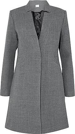 Milly Milly Woman Wool-blend Twill Coat Gray Size 4