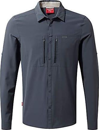 Craghoppers Kiwi Trek Langarm Hemd vintage indigo Herren Freizeithemd dunkelblau