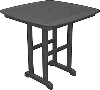 POLYWOOD Outdoor POLYWOOD Nautical 31 in. Recycled Plastic Dining Table Mahogany, Patio Furniture - NCT31MA