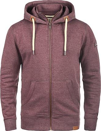 Solid TripZip Mens Hooded Jacket Zip, size:S;colour:Wine Red Melange (8985)