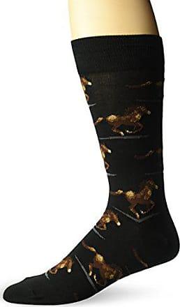 Hot Sox Mens Conversational Slack Crew Socks, Black, Shoe Size: 6-12