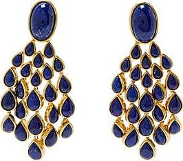 Aurélie Bidermann Cherokee Lapis & Gold-plated Drop Earrings - Womens - Blue Gold