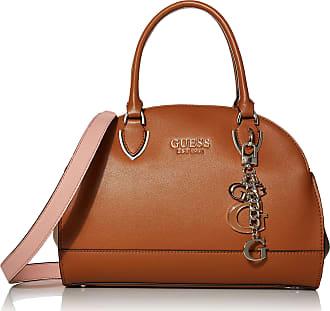 Guess Womens Sherol Cali Satchel Bag, Cognac Multi, One Size
