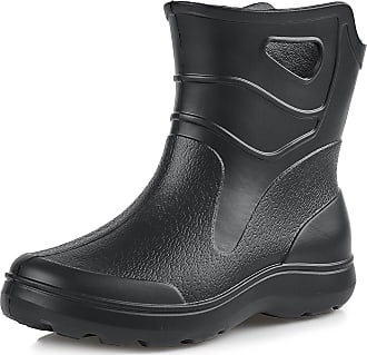 Ladeheid Womens EVA Extra Light Wellington Boots Rainy Wellies Rain Boots KL027D (EU 36 = UK 3.5, 3.5 UK) Black