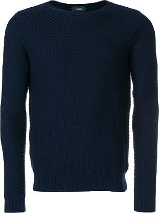 Zanone Suéter de tricot - Azul