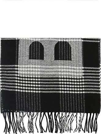 Balenciaga Patterned Scarf With A Plaid Motif Womens Black