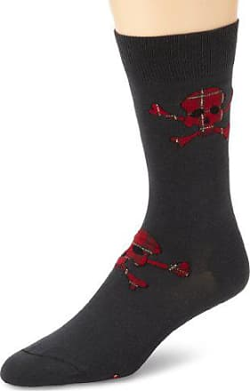 Ozone Mens Tartan Terror Casual Socks, Charcoal, Sock Size:10-13/Shoe Size: 6-12