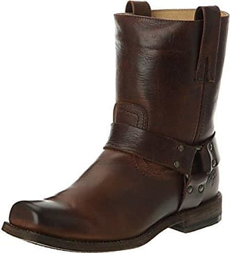 34dfd5aa23 Frye Mens Smith Harness Motorcycle Boot, Dark Brown, 7.5 M