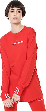 adidas Originals Camiseta adidas Originals Coeeze Ls Vermelha
