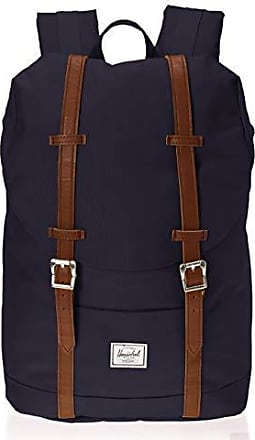 Herschel Retreat Mid-Volume Backpack, Peacoat/Tan Synthetic Leather, One Size