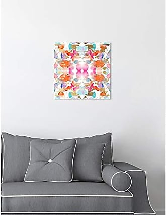 The Oliver Gal Artist Co. The Oliver Gal Artist Co. Abstract Wall Art Canvas Prints Gold and Colorful Confetti Home Décor 12 x 12 Pink, Orange