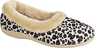 4581a331f196 Dunlop PENNY Ladies Ocelot Velour Full Slippers Leopard Print UK 6