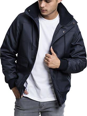 Urban Classics Mens Heavy Hooded Jacket, Navy, XL