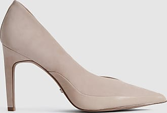 Reiss Alenna - Suede Court Shoes in Taupe, Womens, Size 5