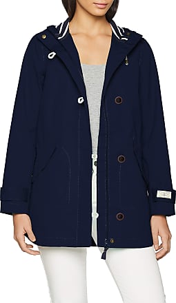 Joules womens Coat Coast Mid, Blue (French Navy Frnavy), 10 (Manufacturer Size: 38)
