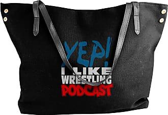 Juju YEP! I LIKE WRESTLING PODCAST Womens Classic Shoulder Portable Big Tote Handbag Work Canvas Bags