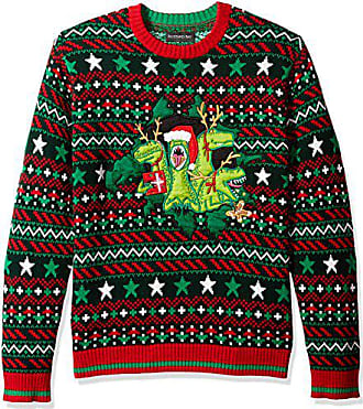 Blizzard Bay Mens X-mas Raptors Ugly Christmas Sweater,Extra Large