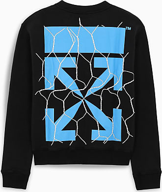 Off-white Felpa Fence Arrows nera/blu