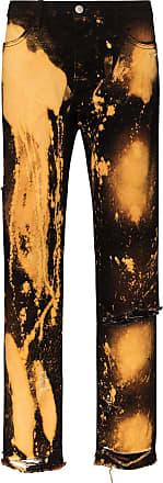 424 Gerade Jeans mit Batikmuster - Schwarz