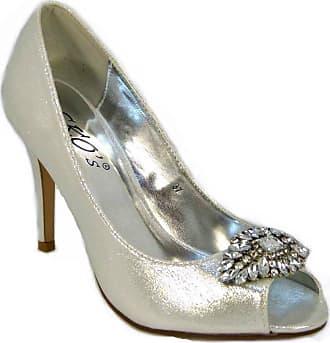 48e28e05449 Sko s Ladies Womens Peep Toe Embellished Diamante Court Shoes Size 3-8 (UK7