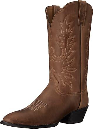 Ariat Womens Heritage Western R Toe Western Cowboy Boot, Distressed Brown, 6.5 B US