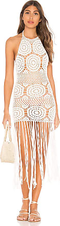 Majorelle London Amy Crochet Dress in White